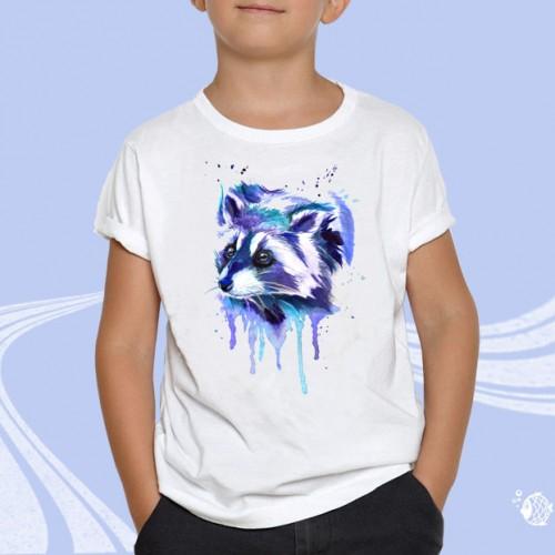 "Детская футболка с принтом ""Енот"""