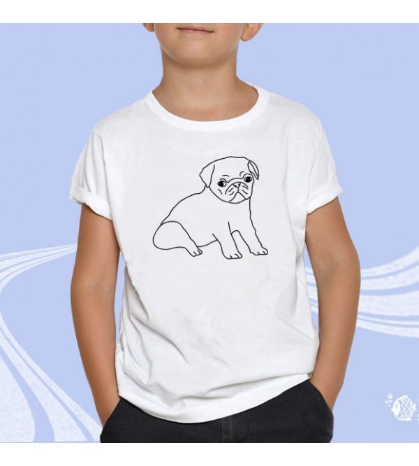 """Детская футболка с принтом """"Собачка"""""""