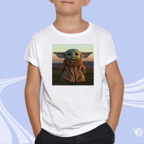"""Детская футболка с принтом """"Мастер Йода"""""""
