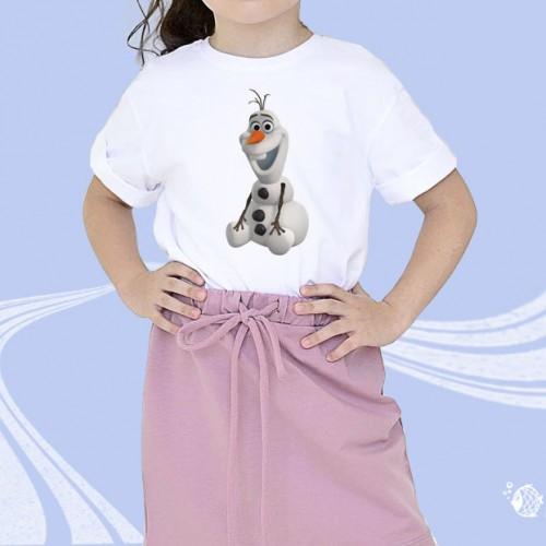 """Детская футболка с принтом """"Снеговик"""""""