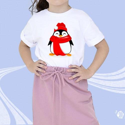 """Детская футболка с принтом """"Пингвин"""""""