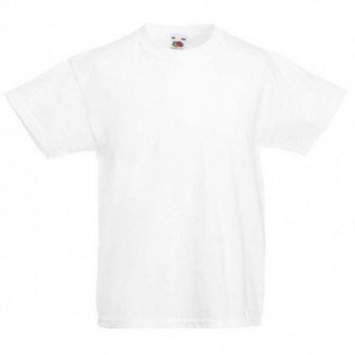 Детская футболка однотонная Белая
