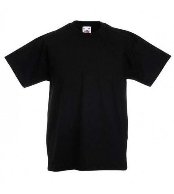 Детская футболка однотонная Черная