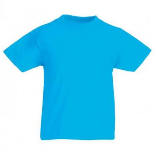 Детская футболка однотонная Голубая