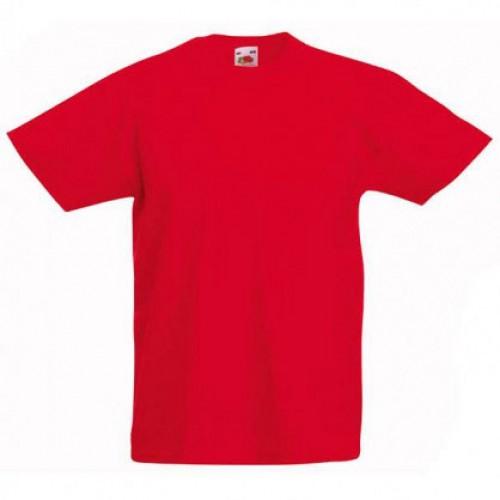 Детская футболка однотонная Красная