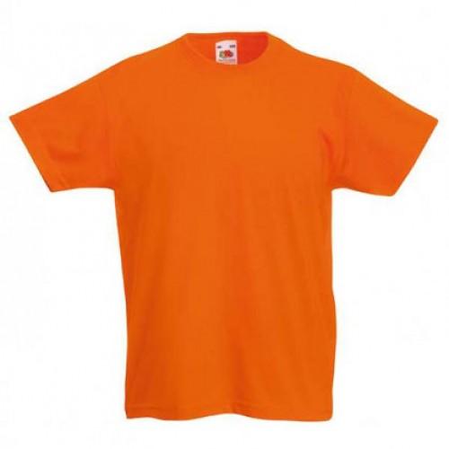 Детская футболка однотонная Оранжевая