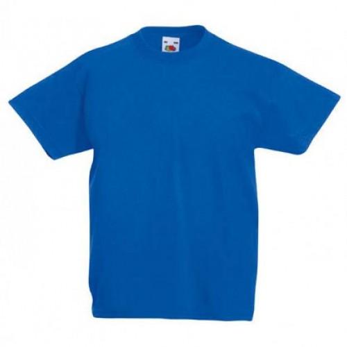 Детская футболка однотонная Синяя