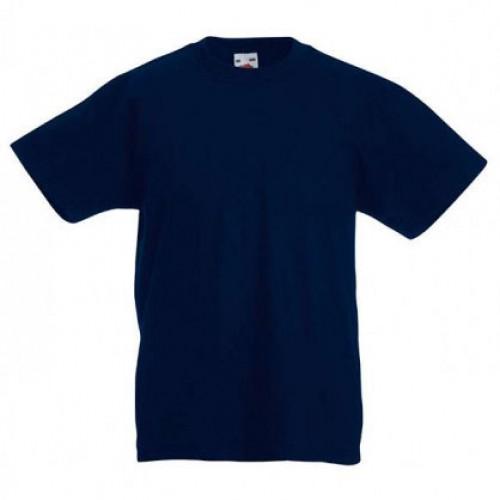 Детская футболка однотонная Темно-синяя
