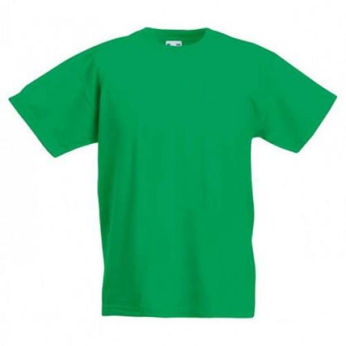 Детская футболка однотонная Зеленая