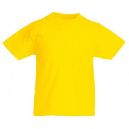 Детская футболка однотонная Желтая