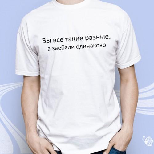"""Мужская футболка """"Вы все такие разные..."""""""