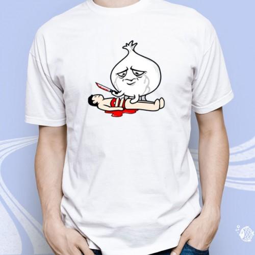 """Мужская футболка с принтом """"Смерть от лука"""""""