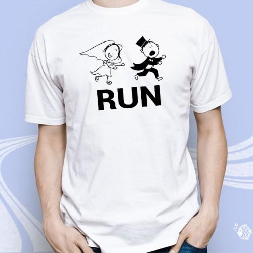 """Мужская футболка с принтом """"Run"""""""