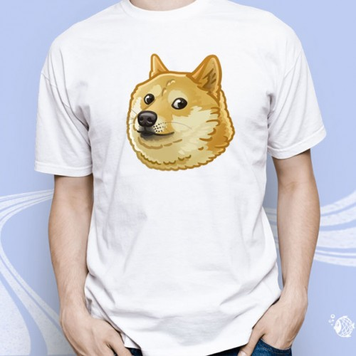 "Мужская футболка с принтом ""Лайка"""