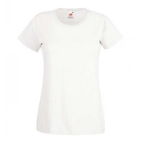 Женская футболка однотонная Белая