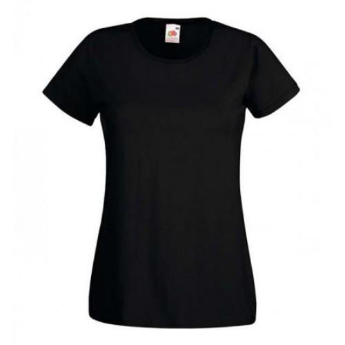 Женская футболка однотонная Черная