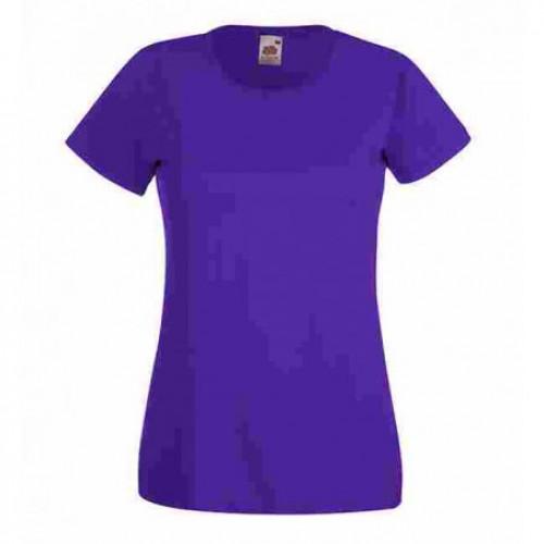 Женская футболка однотонная Фиолетовая