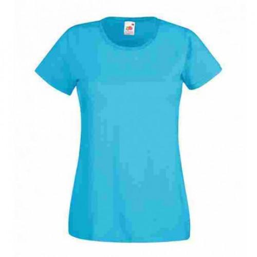 Женская футболка однотонная Голубая