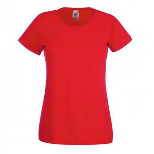 Женская футболка однотонная Красная