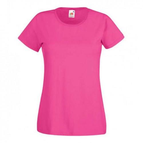 Женская футболка однотонная Малиновая