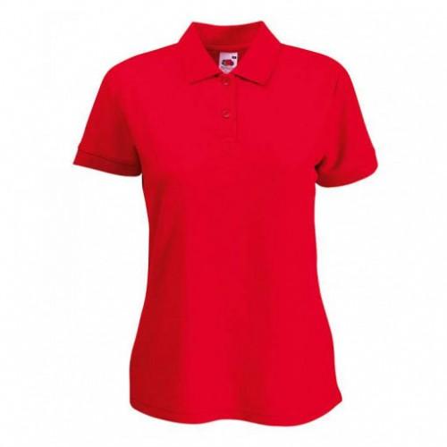 Женское поло однотонное Красная