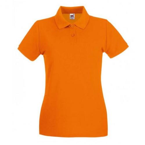Женское поло однотонное Оранжевая