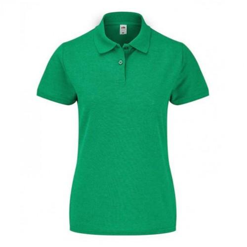 Женское поло однотонное Зеленая