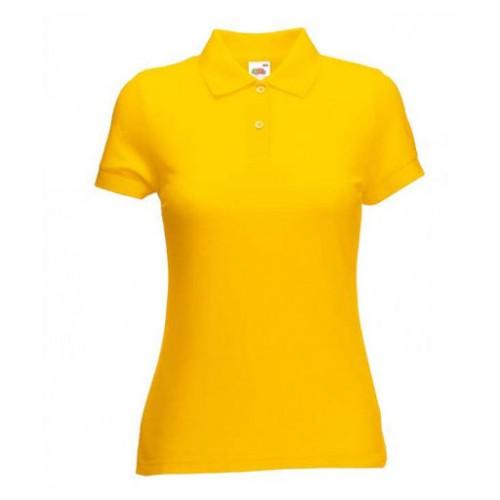 Женское поло однотонное Желтая