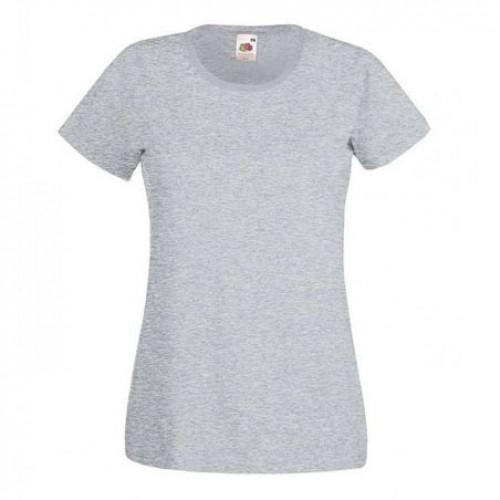 Женская футболка однотонная Серый маланж