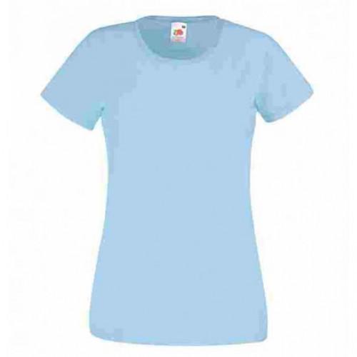 Женская футболка однотонная Светло-голубой