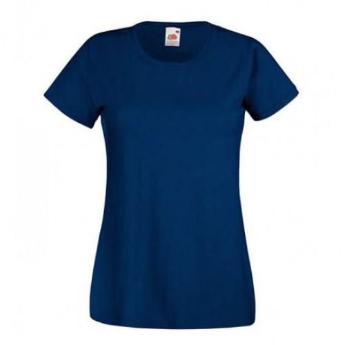 Женская футболка однотонная Темно-синяя