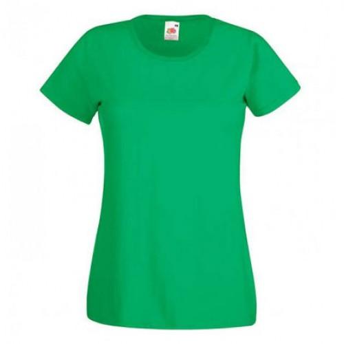 Женская футболка однотонная Зеленая