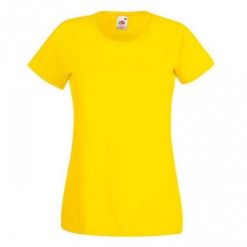 Женская футболка однотонная Желтая