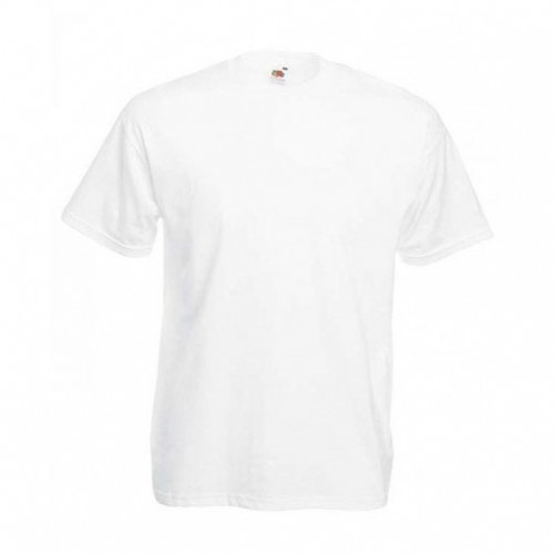 Мужская футболка однотонная Белая