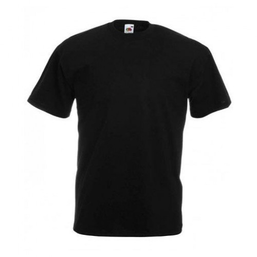 Мужская футболка однотонная Черная