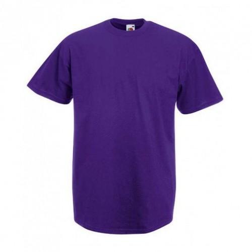Мужская футболка однотонная Фиолетовая