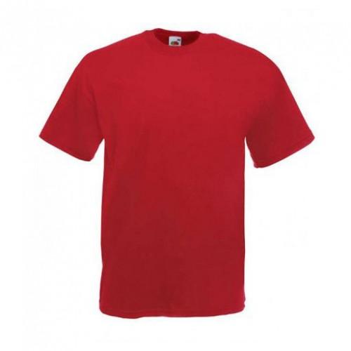 Мужская футболка однотонная Красная