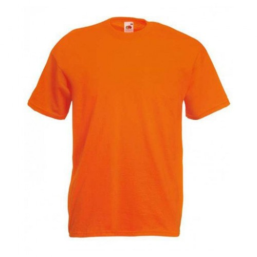Мужская футболка однотонная Оранжевая