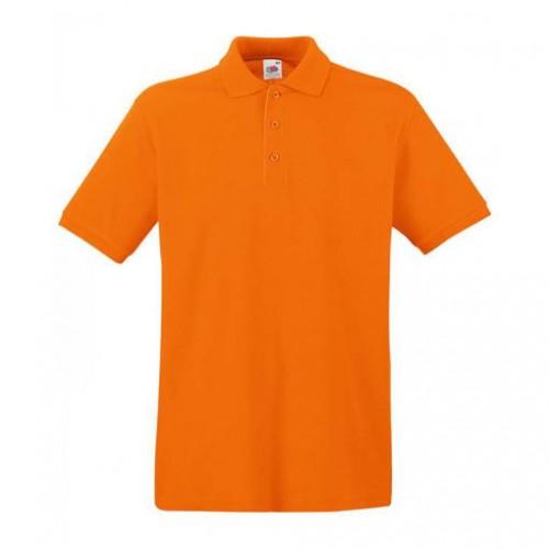 Мужское поло однотонное Оранжевая