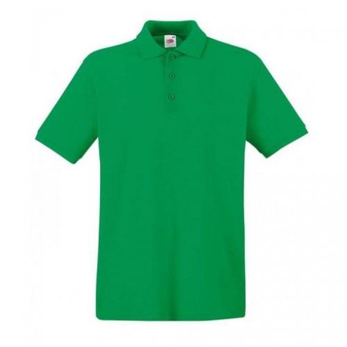 Мужское поло однотонное Зеленая