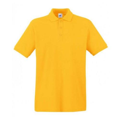 Мужское поло однотонное Желтая