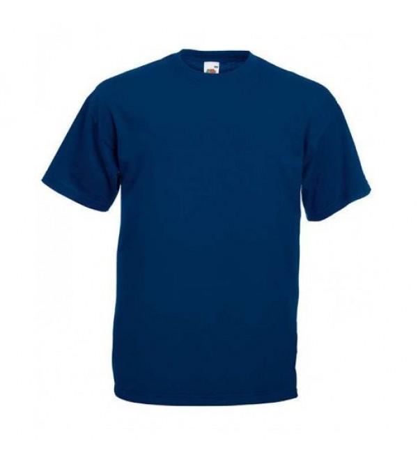 Мужская футболка однотонная Темно-синяя