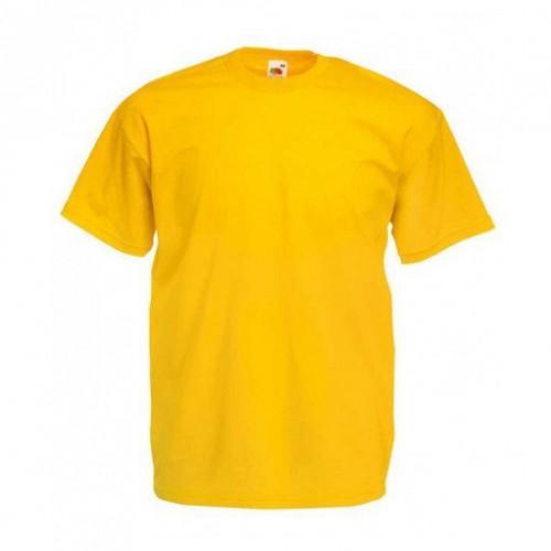 Мужская футболка однотонная Желтая