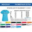 Женская футболка однотонная Синяя