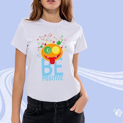 "Футболка женская ""BE Positive"""