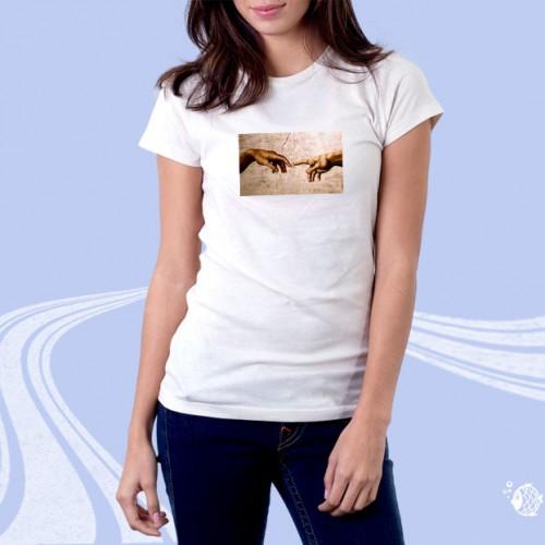 """Женская футболка с принтом """"Две руки"""""""