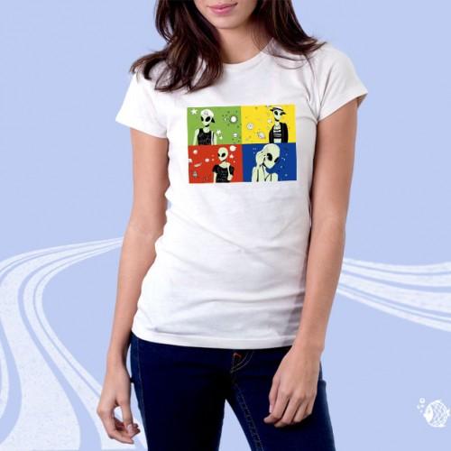 """Женская футболка с принтом """"Инопланетяне"""""""