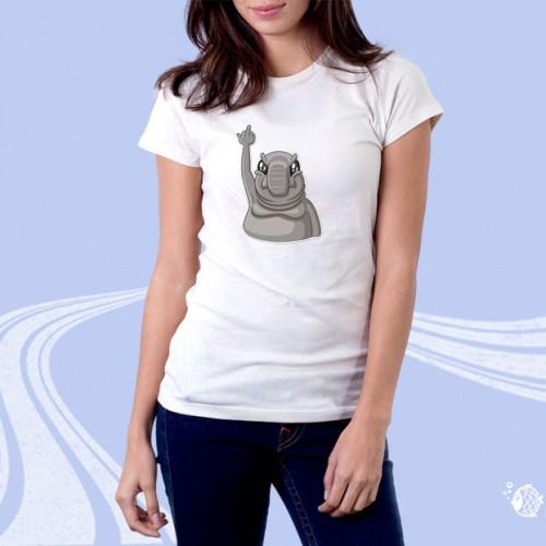 """Женская футболка с принтом """"Слон"""""""