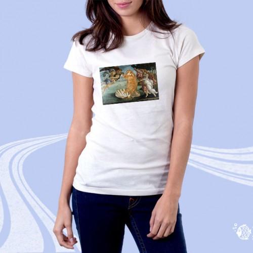 """Женская футболка с принтом """"Кот и демоны"""""""