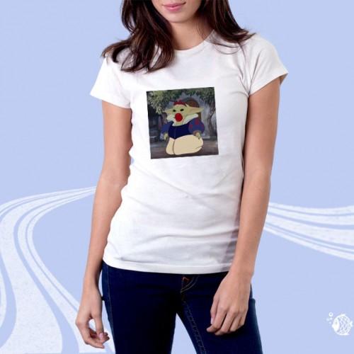 """Женская футболка с принтом """"Мультяшный Йода"""""""